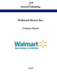 Walmart Stores Inc. Report