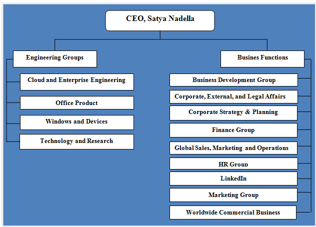 Microsoft Organizational Structure