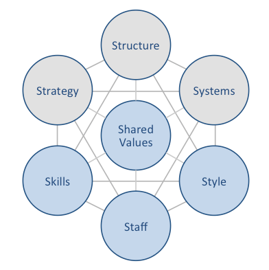 7s framework mckinsey model The mckinsey 7s model for strategic planning and assessment the 7s model is a management tool which evaluates  this is a very useful framework for managers and.