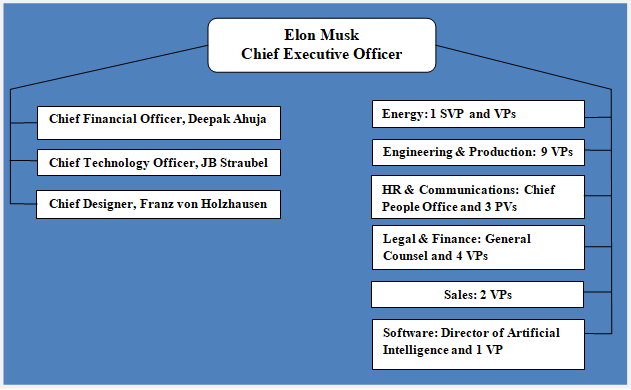 Tesla Organizational Structure